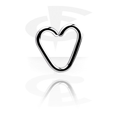 Kółka do piercingu, Heart-shaped Continuous Ring<br/>[Surgical Steel 316L], Surgical Steel 316L