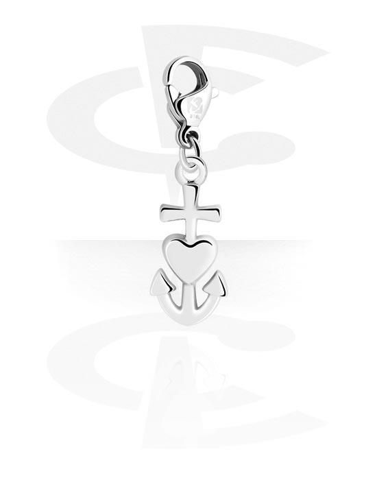Armbånd med amuletter, Charm for Charm Bracelet med Anchor Design, Surgical Steel 316L