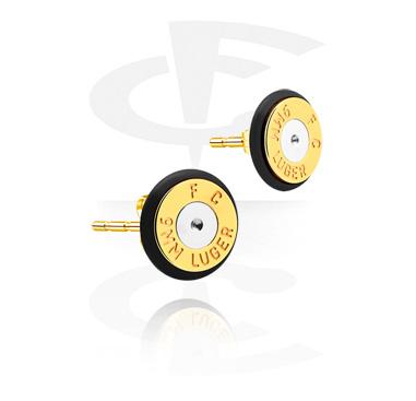Earrings, Studs & Shields, Ear Studs, Gold Plated Surgical Steel 316L
