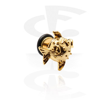 Imitacja biżuterii do piercingu, Fake Plug, Gold Plated