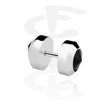 Falešné piercingové šperky, FALEŠNÝ PLUG, Surgical Steel 316L
