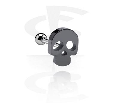 Helix / Tragus, Tragus Piercing z Skull Design, Surgical Steel 316L