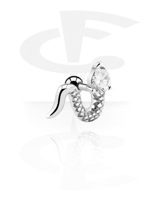 Helix / Tragus, Tragus piercing, Acciaio chirurgico 316L