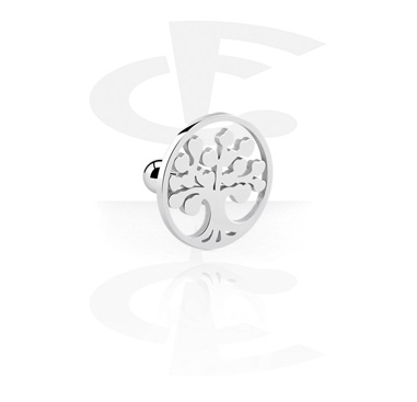 Helix / Tragus, Helix piercing with Tree Design, Surgical Steel 316L