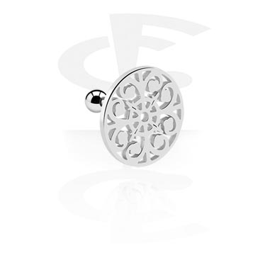 Helix / Tragus, Helix piercing with Mandala-Design, Surgical Steel 316L
