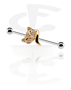 industrial barbell with golden cat
