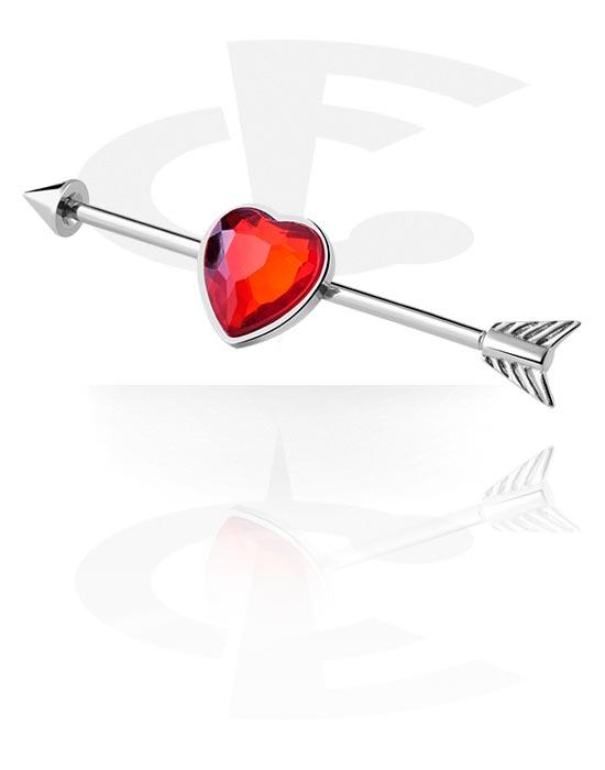 Barbellit, Industrial Barbell kanssa Heart Design, Kirurginteräs 316L