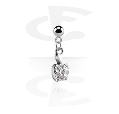 Balls & Replacement Ends, Ball with Charm for 1.2mm Pins, Surgical Steel 316L