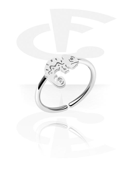 Alke za piercing, Continuous ring s chameleon, Kirurški čelik 316L