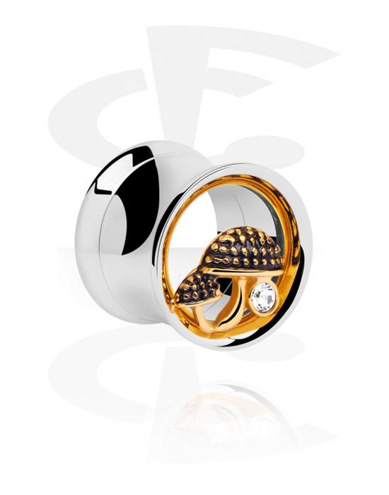 double flared tunnel chirurgenstahl 316l vergoldet crazy factory piercing online shop. Black Bedroom Furniture Sets. Home Design Ideas