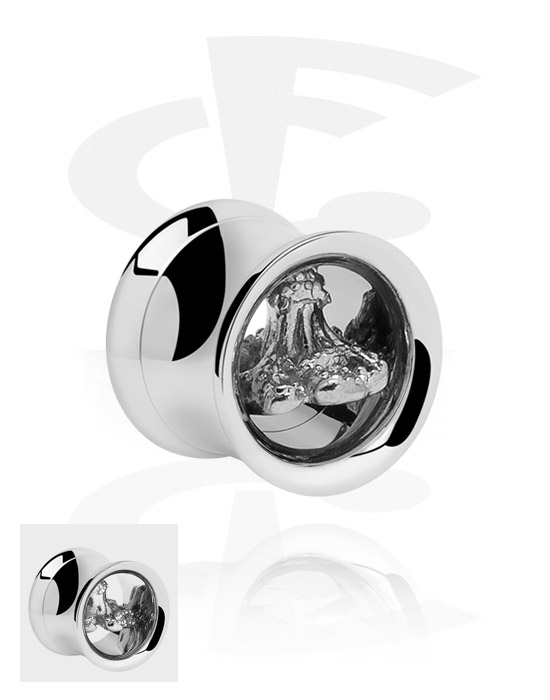 Tunnels & Plugs, Double Flared Plug, Chirurgisch staal 316L