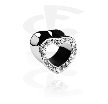 Tunely & plugy, Heart-Shaped Flared Tunnel, Surgical Steel 316L