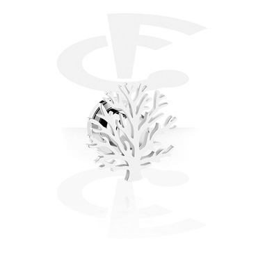 Tunnels & Plugs, Tunnel with Tree Design, Surgical Steel 316L