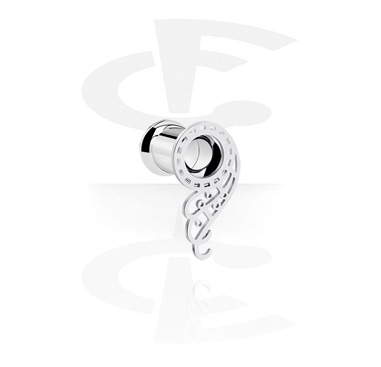 Tunnels & Plugs, Double Flared Tunnel with wing design, Surgical Steel 316L