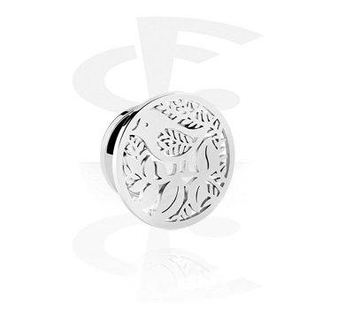 Tunnels & Plugs, Tunnel with Bird Design, Surgical Steel 316L