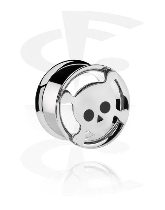 Tunnels & Plugs, Tunnel double flared, Acier chirurgical 316L