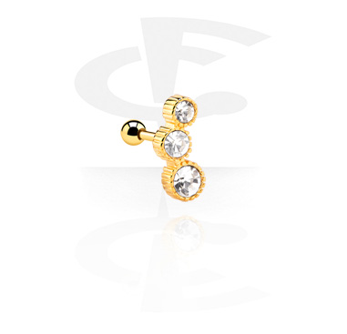 Helix / Tragus, Tragus Piercing, Gold Plated Steel