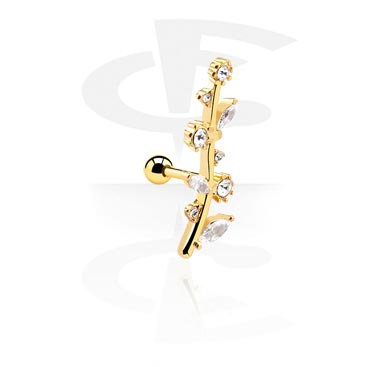 Helix / Tragus, Tragus-Piercing, Gold-Plated Surgical Steel