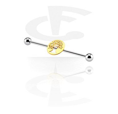 Barbells, Industrial Barbell with tree attachment, Surgical Steel 316L