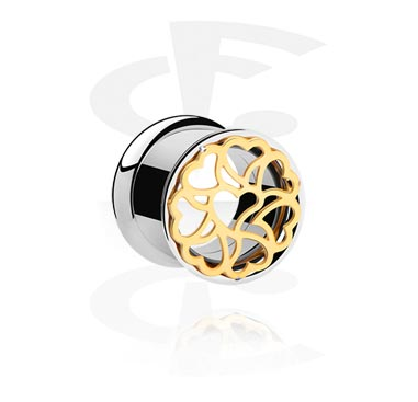 Tunnels & Plugs, Double Flared Tunnel, Surgical Steel 316L