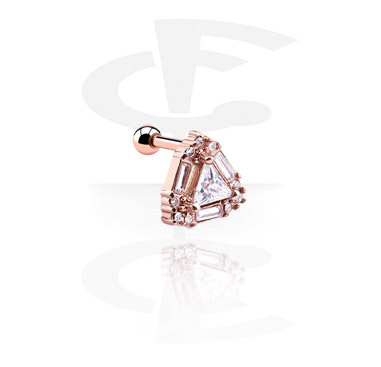 Helix / Tragus, Tragus-Piercing, Rosegold-Plated Steel