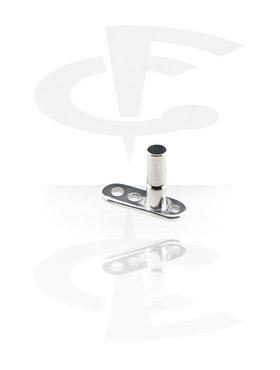 Dermal Anchors, Internally Threaded Dermal Anchor with Healing Cap, Titaani