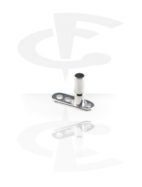 Microdermal, Internally Threaded Dermal Anchor avec Healing Cap, Titane