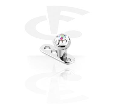 Dermal Anchor met Crystaline jeweled disc