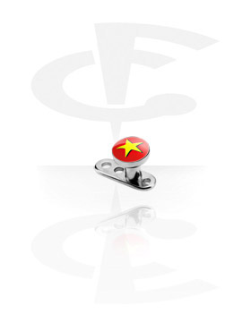 Internally Threaded Dermal Anchor with Picture Flat Disc