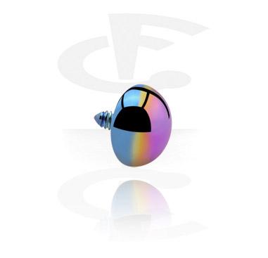 Palline e Accessori, Half Ball per Internally Threaded Pins, Titanio