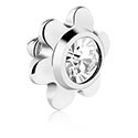 Balls & Replacement Ends, Titanium Jeweled Flower, Titanium