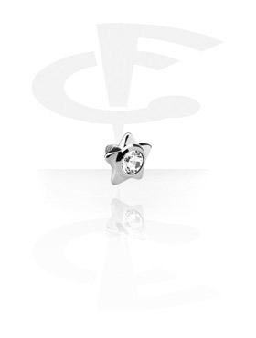 Balls & Replacement Ends, Titanium Jeweled Star, Titanium