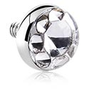 Boules et Accessoires, Titanium Chrystaline Jeweled Disc, Titane
