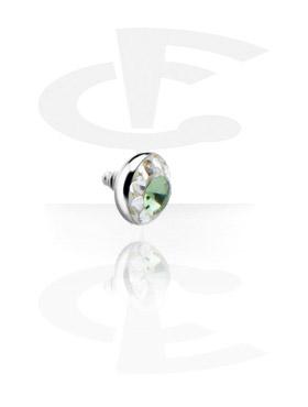 Titânio Chrystaline Jeweled Disc