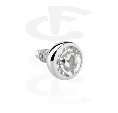 Micro Kristallsteinkugel für Stäbe mit Innengewinde