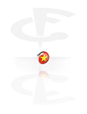 Boules et Accessoires, Picture Flat Disc pour Internally Threaded Pin, Titane