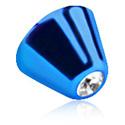 Ballen & Accessoires, Jeweled Micro Cone, Titanium