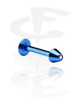 Jeweled Micro Labret con Cone
