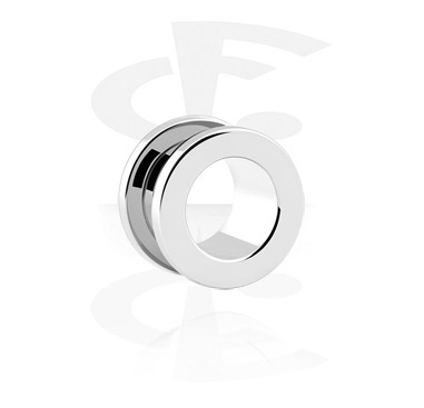 Tunnels & Plugs, Flesh tunnel avec filetage, Acier chirurgical 316L