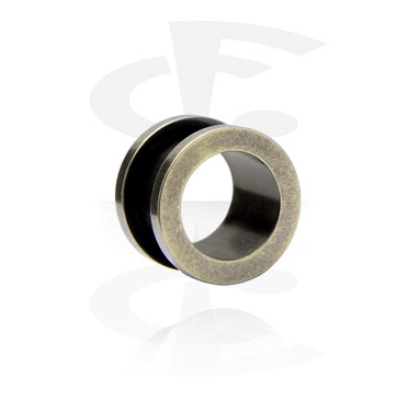 "Tunnels & Plugs, ""Antique Brass"" Flesh Tunnel, Surgical Steel 316L"