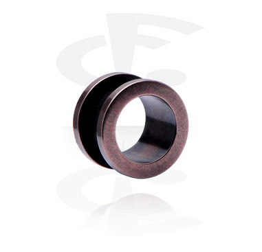 "Tunnels & Plugs, ""Antique Copper"" Flesh Tunnel, Surgical Steel 316L"