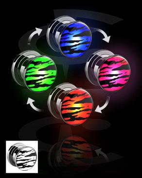 LED-plugi, jossa tiikerikuvio