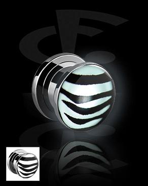 LED Plug with Zebra Pattern