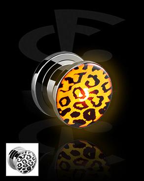 LED-plugi, jossa gepardikuvio