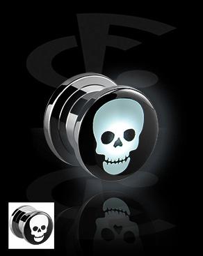 LED Plug mit Totenkopf-Motiv