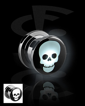 LED Plug with Skull Motive