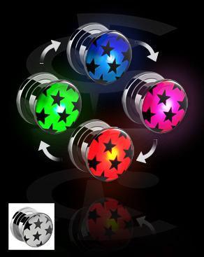 LED Plug mit Stern-Muster