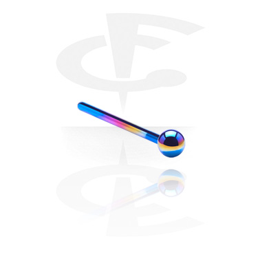 Nose Jewellery & Septums, Straight Nose Studs with Ball, Titanium