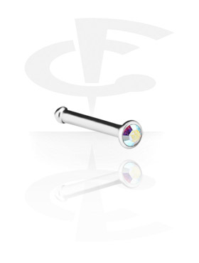 Nose Jewelry & Septums, Jewelled Nose Stud, Titanium