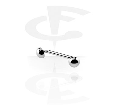 Barbellit, Open Staples Barbell with Half Balls 45 degree, Titanium